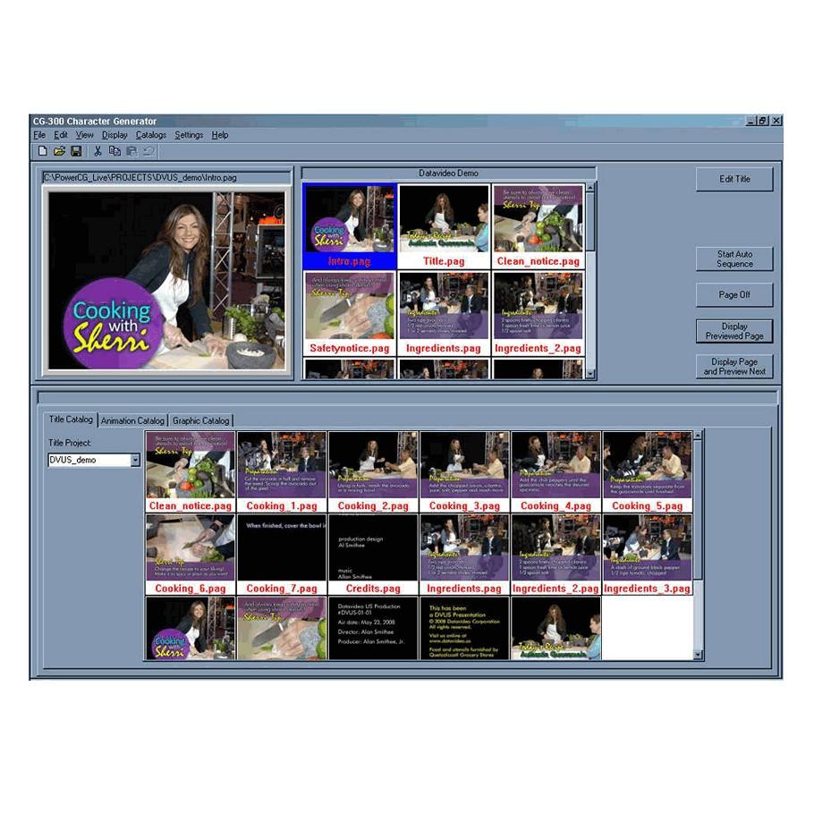 DataVideo CG-350 | HD & SD SDI Character Generator Software