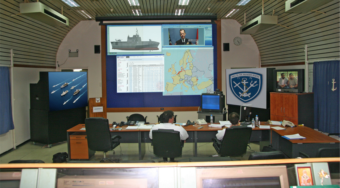 Greek Navy control room intergation